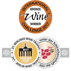 Sello de premios para vinos de La Mancha