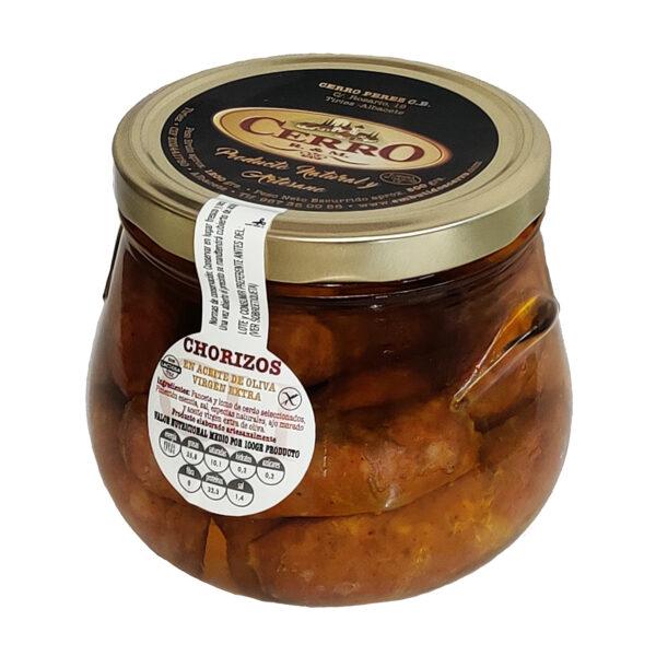 Chorizos de orza marca Cerro