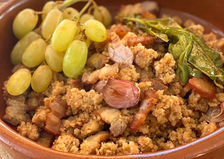gastronomía albaceteña, migas ruleras de Albacete